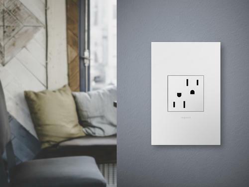 Adorne Outlet ARTR152W4 White Tamper Resistant Outlet 15 Amps
