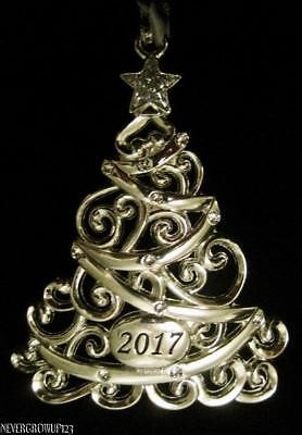 2017 DATED SPARKLING SILVER CHRISTMAS TREE ORNAMENT ...