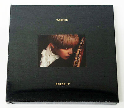 TAEMIN SHINee - Press It (Vol. 1) [GRAY Type-A] CD+Booklet+Photocard+Gift Photo