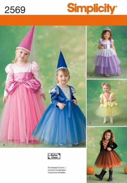 Uncut Princess Witch Toddler Halloween Costume Pattern Simplicity Fascinating Toddler Halloween Costume Patterns