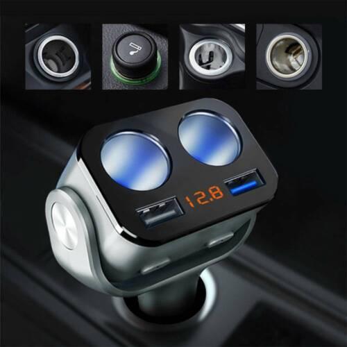 Prise allume-cigare 12 24V 90W adaptateur 2 prise chargeur diviseur USB PS