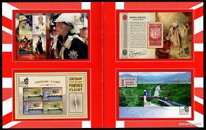2010-London-Overprint-Minisheets-Post-Office-Pack-Australia-Mint-Stamps