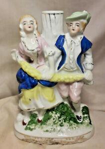 1950-s-Colonial-Couple-Porcelain-Table-Lamp-Base
