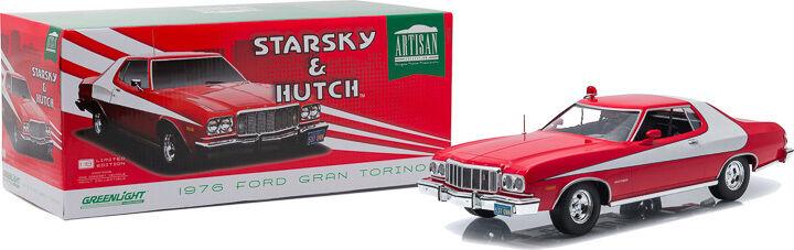 vertLIGHT 1 18 AUTO DIE CAST FORD GRAN TORINO 1976 STARSKY & HUTCH ART 19017
