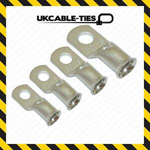 35mm² x 8mm Copper Tube Terminals Crimp//Solder Cable//Battery//Eyelets Lug Ends