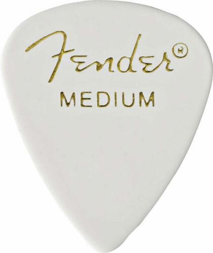 FENDER Classic Celluloid 351 white medium 12er
