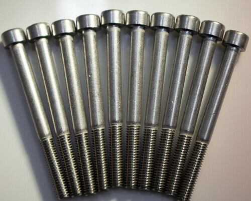 M8 X 1.25 X 90mm Stainless steel socket allen head metric bolts 10pcs