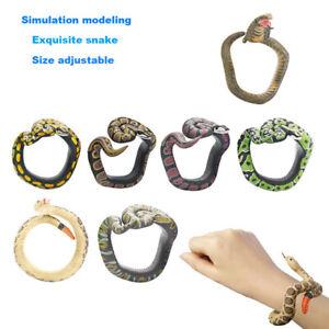 Simulation-Resin-Animal-Python-Bracelet-Handmade-Painted-PVC-Material-Wristband