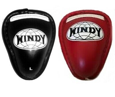 WINDY GROIN PROTECTOR STEEL CUP RED BLACK M  L XL MUAY THAI MMA K1 FREE SHIPPING