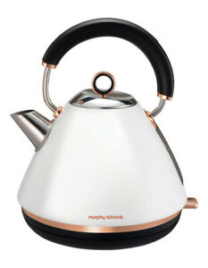 Morphy Richards Accents Traditional Pyramid Kettle Rose Gold White 102108