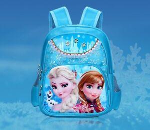 Image is loading Kids-Large-School-Bag-Backpack-Frozen-Spider-Man-