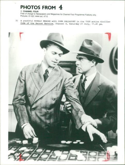 Ronald reagan With John Gallaudet. - Vintage photo