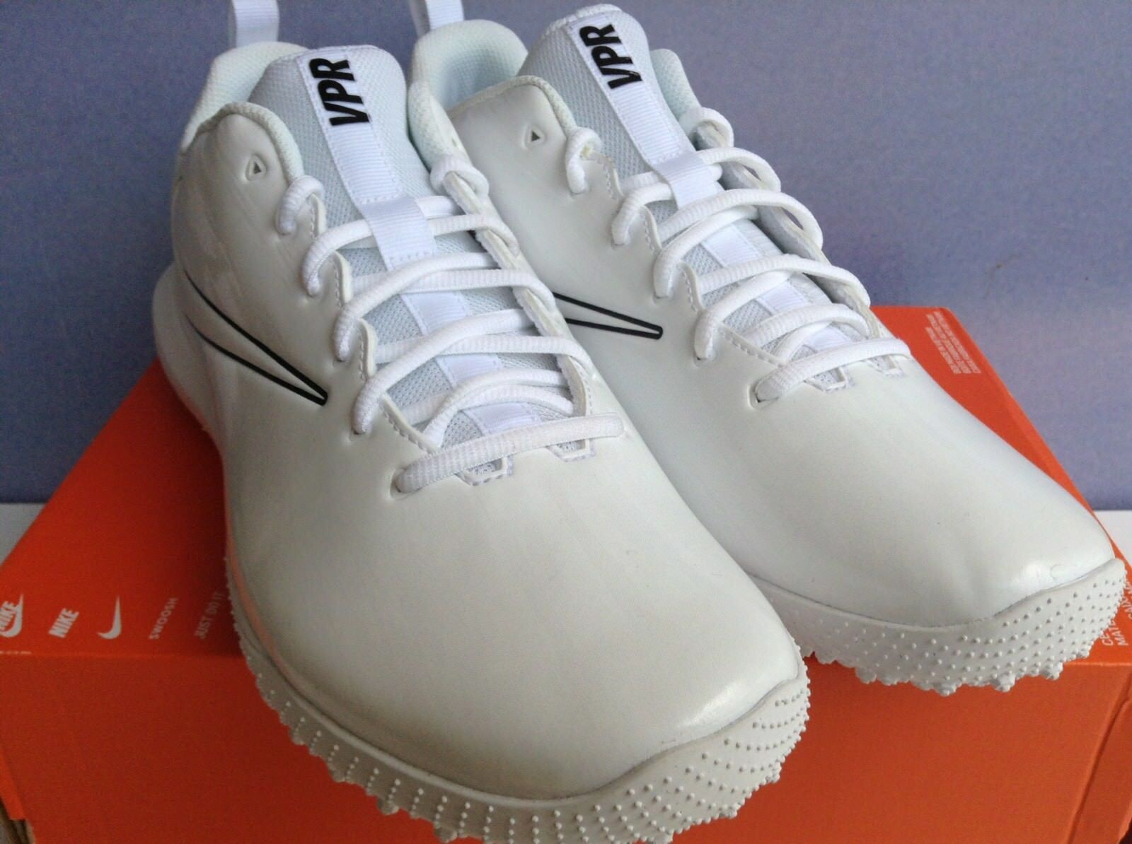 Nike Vapor Varsity Low Turf LAX  White Black Mns.Sz.12 (923492-110)