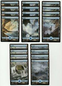 20x ISLAND Full Art Basic Land NM/LP MTG Magic the Gathering Battle For Zendikar