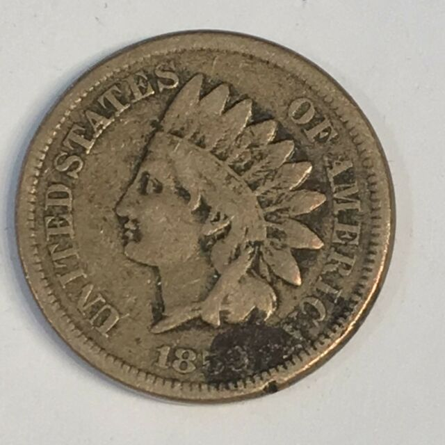 1859 Indian Cent - One Year Copper Nickel Type- High Quality Scans #C570