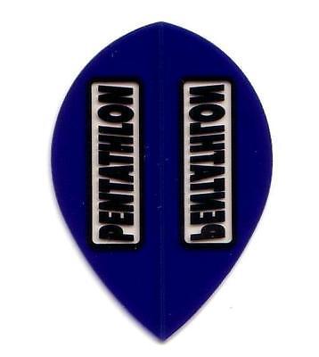 Pentathlon Extra Strong Dart Flights - Blue Transparent - Pear Shape