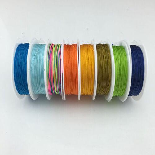 10M//Roll 0.4mm Nylon Cord Thread Braided String Handmade for DIY Jewelry Making