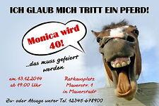 30 lustige Einladungskarten Geburtstag Einladungen jedes Alter 40 50 60 Pferd