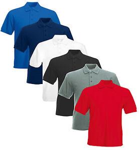 Men-039-s-Polo-Shirt-Plain-T-Shirt-Blank-Short-Sleeve-Shirt-NEW