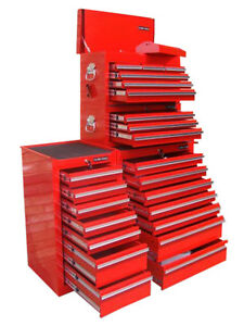 28 us pro tools tool red chest box roll side cabinet toolbox finance available ebay. Black Bedroom Furniture Sets. Home Design Ideas