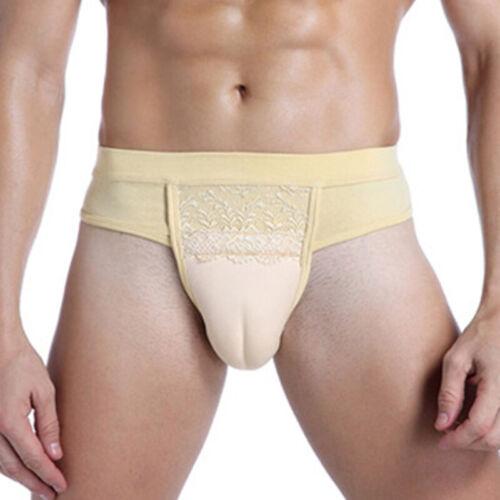 Herren Damen Gaff Gepolstert Tanga Slip Crossdresser Transgender Unterwäsche