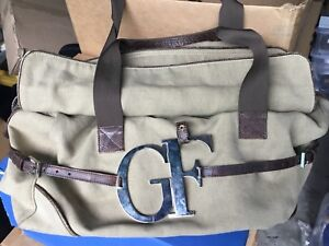 Authentische Gianfranco Leder Canvas Und 100 Aus Ferrᄄᆭ Reisetasche Italien 4andx0wqz