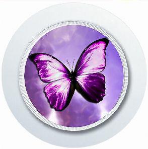 Reuseable Car Tax Disc Holder Blue Butterfly