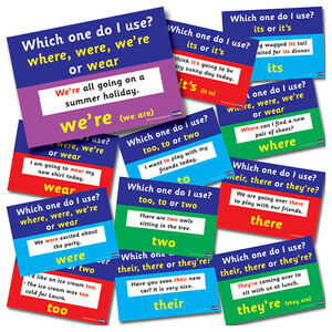 12-X-Common-Literacy-Mistakes-School-Poster-Pack-For-Classrooms-A4-Display-Decor
