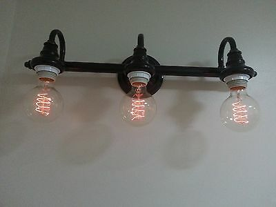 40 watt G80 Globe Bulb Edison Chandelier Retro-Antique Swirl Filament Light