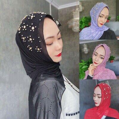 Women Muslim Islamic Arab Double Loops Hijab Turban Scarf Shawls Cap Hat Shayla