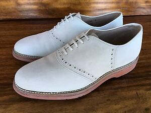 vintage s johnston murphy saddle shoes white suede