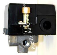 Heavy Duty Air Pressure Switch 120 Volt 95-125 Psi Adjustable Four Port 1/4''