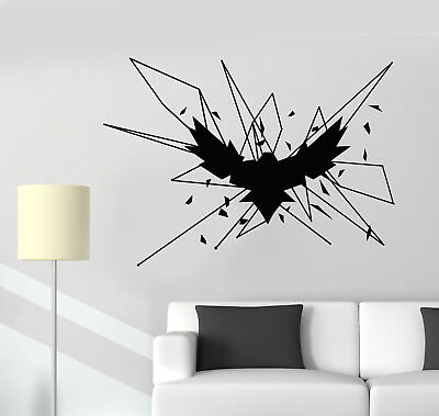 Vinyl Wall Decal Tree Howling Wolf Raven Animals Gothick Style Stickers 1242ig