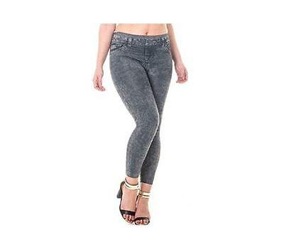 Thermal Skinny Jeggings Jeans High Waist Slim Fit Denim Look Fleece Lining Black Zahlreich In Vielfalt