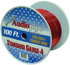 100 Feet Absolute P4100RD 4-Gauge Spool Power Wire Cable Red