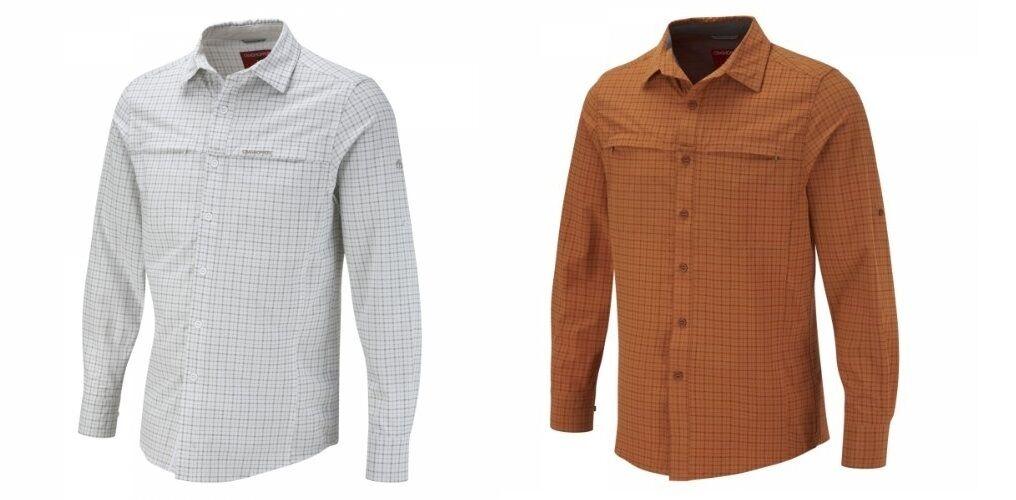Craghoppers caballero camisa funcionales camisa insectos-projoección UV elástico PVP 89,95
