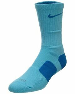 Details about Nike Elite Socks LARGE (Fits Men Size 8-12, Women 10-13)  Blue, Blue SX3693-494