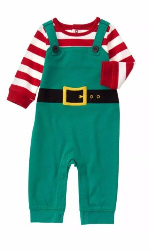 One-Piece Romper 0-3 OR 3-6 Months NWT Baby Boys Gymboree Christmas Elf Suit