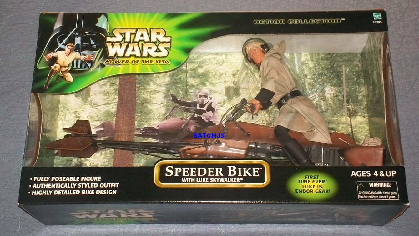 venta Estrella Wars Power Of The Jedi 12 pulgadas pulgadas pulgadas pulgadas Speeder Bike C   Luke Skywalker Sellado 2001  el precio más bajo