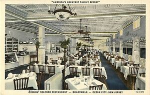 Image Is Loading Interior View Simms 039 Seafood Restaurant Ocean City