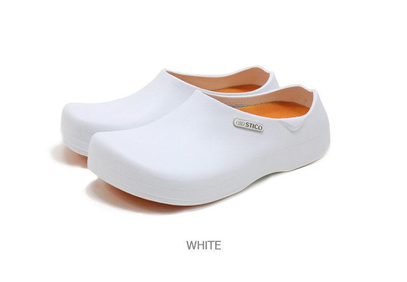 Uomo Chef Kitchen Schuhes Non-Slip Slipper Simple Comfort Sandale / Slipper Non-Slip Weiß M 037cb7