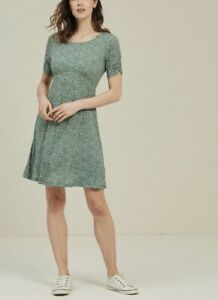 Fat Face Womens Green Mini Ditsy Dress Size 16