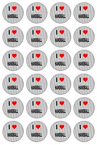 Ich Liebe Handball 24 Essbare Cupcake Topper Kuchen Dekoration