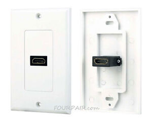 1 port hdmi 1 4 wall face plate panel cover coupler outlet extender HDMI Plug image is loading 1 port hdmi 1 4 wall face plate