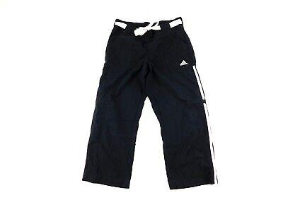 Adidas Da Donna Nero Bianco 3 Righe Cintura Atletica Corto Pantaloni S
