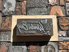 Vtg Morgans Wonder Boy Advertising Letterpress Print Type Cut Ornament Block