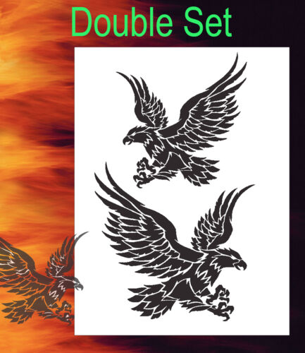 Eagle 6 Tribal Animal Airbrush Stencil Spray Vision Template