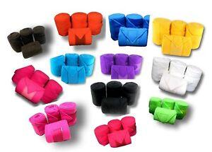 D-A-Brand-Set-of-4-Deluxe-Soft-Fleece-8-039-Polo-Leg-Wraps-Horse-Tack