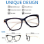 FEARLESS-Women-Eyeglasses-CAT-EYE-Clear-Lens-Shadz-Metal-ARMS-Glasses-Oversized thumbnail 2