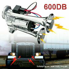 600db Super Loud Air Electric Horn Dual Trumpet 12v For Car Truck Train Speaker